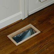 Creating frame for flush mount floor vent